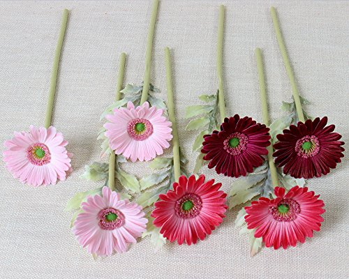 7PCS-Real-Touch-PU-Artificial-Barberton-Daisy-Gerbera-Daisy-Flowers-Bunch-Bouquet-Arrangements-for-Holiday-Bridal-Bouquet-Home-Party-Decor-Bridesmaid-Red