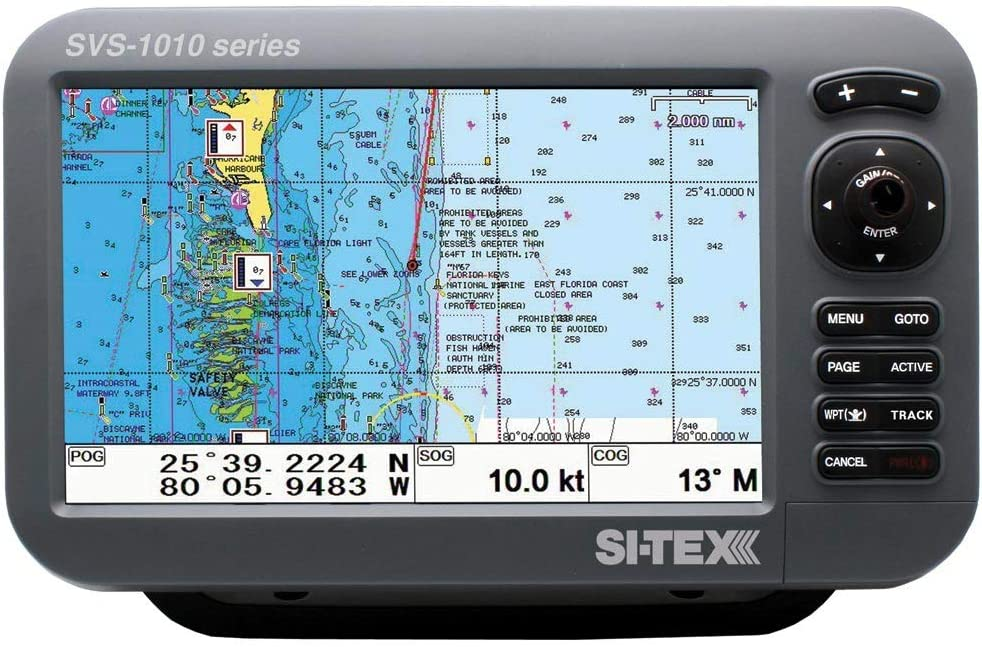 Si-tex SVS-1010CE 10 Chartter con antena GPS externa y tarjeta ...