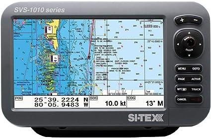 Si-tex SVS-1010CE 10 Chartplotter con antena GPS externa y ...