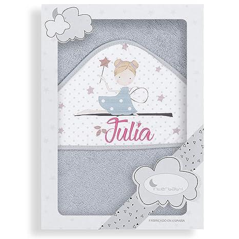 Capa de Baño para Bebé Personalizada con Nombre, modelo Hada