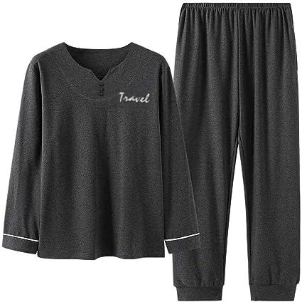 Conjunto de pijamas para hombres Conjunto de pijama de manga ...