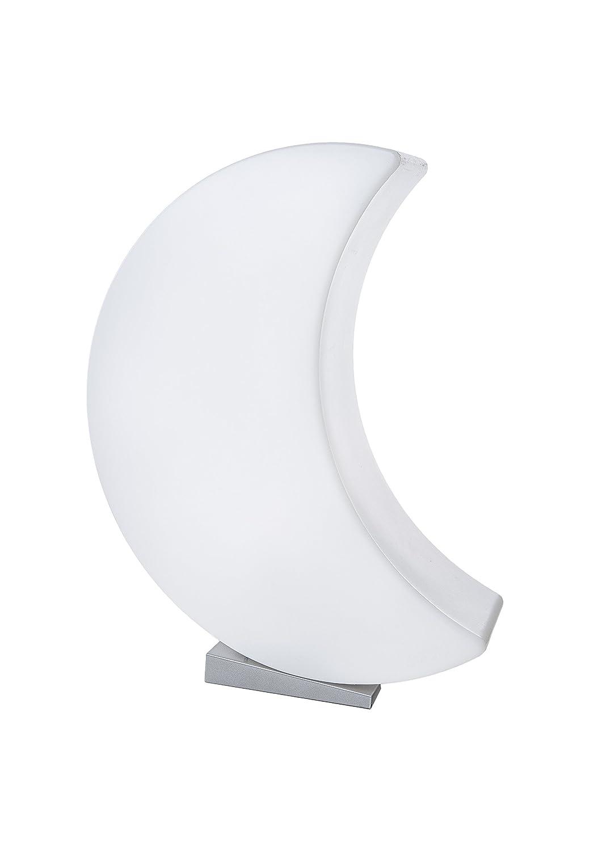 8 seasons design - LED Designmond 3D Mond Shining Moon (60cm groß, RGB Farbwechsel, dimmbar, Fernbedienung, Dekomond beleuchtet, inkl. Sockel, Innen- & Außenleuchte) weiß 32261L