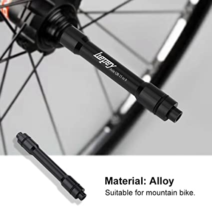 MTB Bicycle 15mm Thru Axle to Standard 9mm Quick Release Front Wheel Adapter
