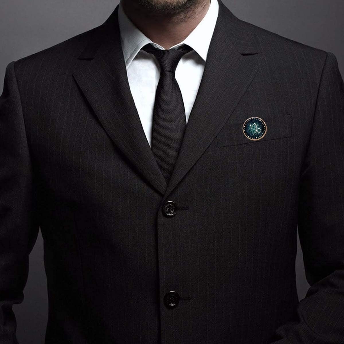 Pinback Buttons Badges Pins Capricorn Zodiac Lapel Pin Brooch Clip Trendy Accessory Jacket T-Shirt Bag Hat Shoe