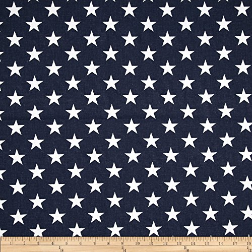 (Premier Prints 0368136 Stars Navy Blue/White Fabric by the Yard)