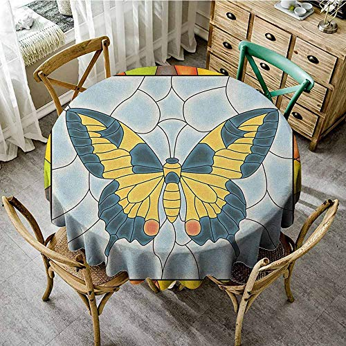 Rank-T Round Outdoor Round Tablecloth 40