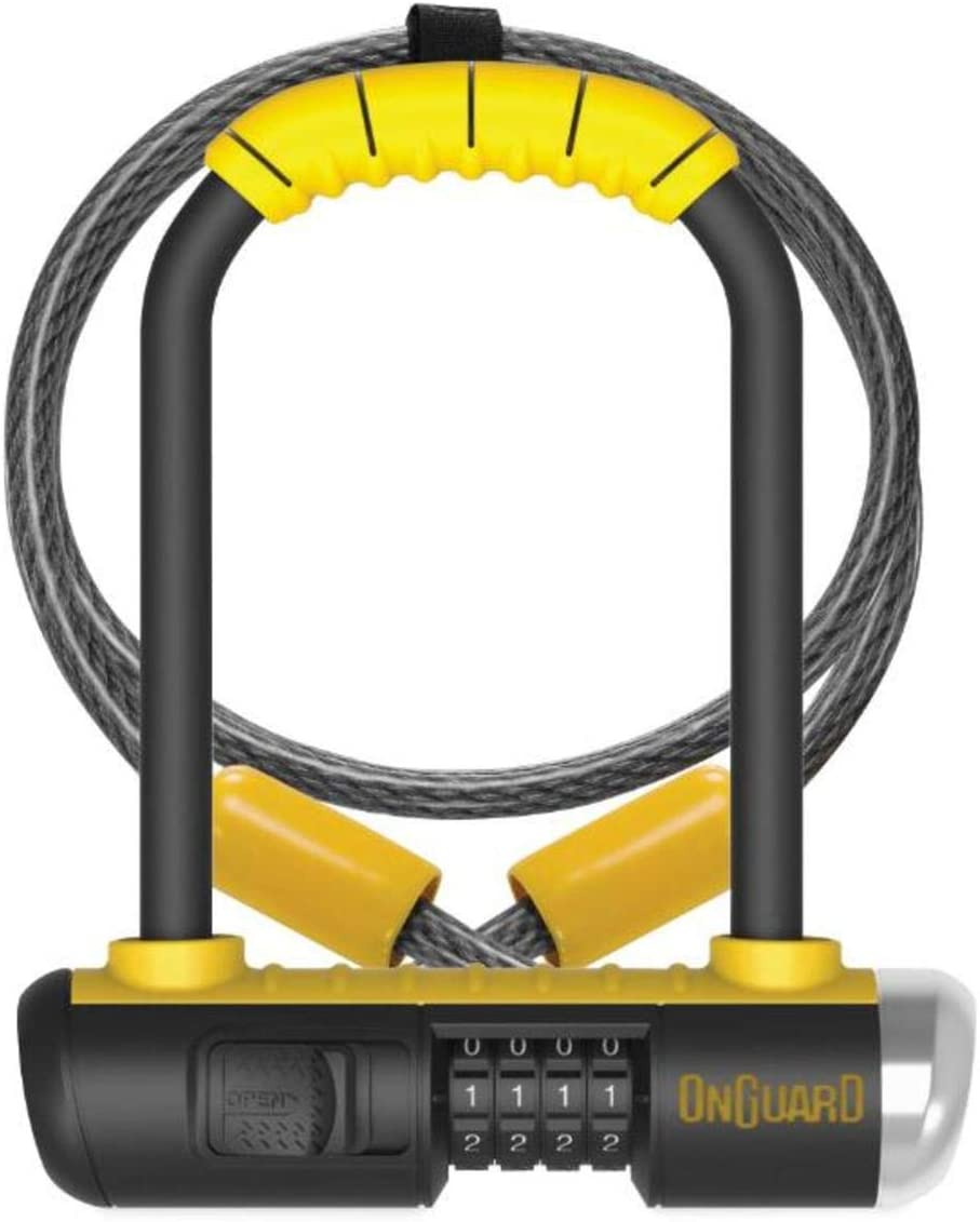 Onguard Bulldog Mini Combo Lock w 4 X10mm Cable – yellow, one size