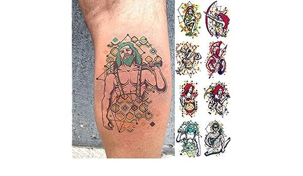 Oottati 8 Hojas Tatuajes Temporales Brazo Pierna Constelación ...
