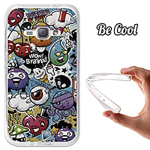 BeCool® - Funda Gel Flexible Samsung Galaxy J1 2016 BeCool Grafiti de Colores Divertido Carcasa Case Silicona TPU Suave