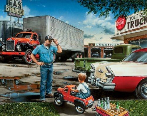 Semi Truck Driver Motivational Poster Art Print 11x14 Wall Decor Pictures