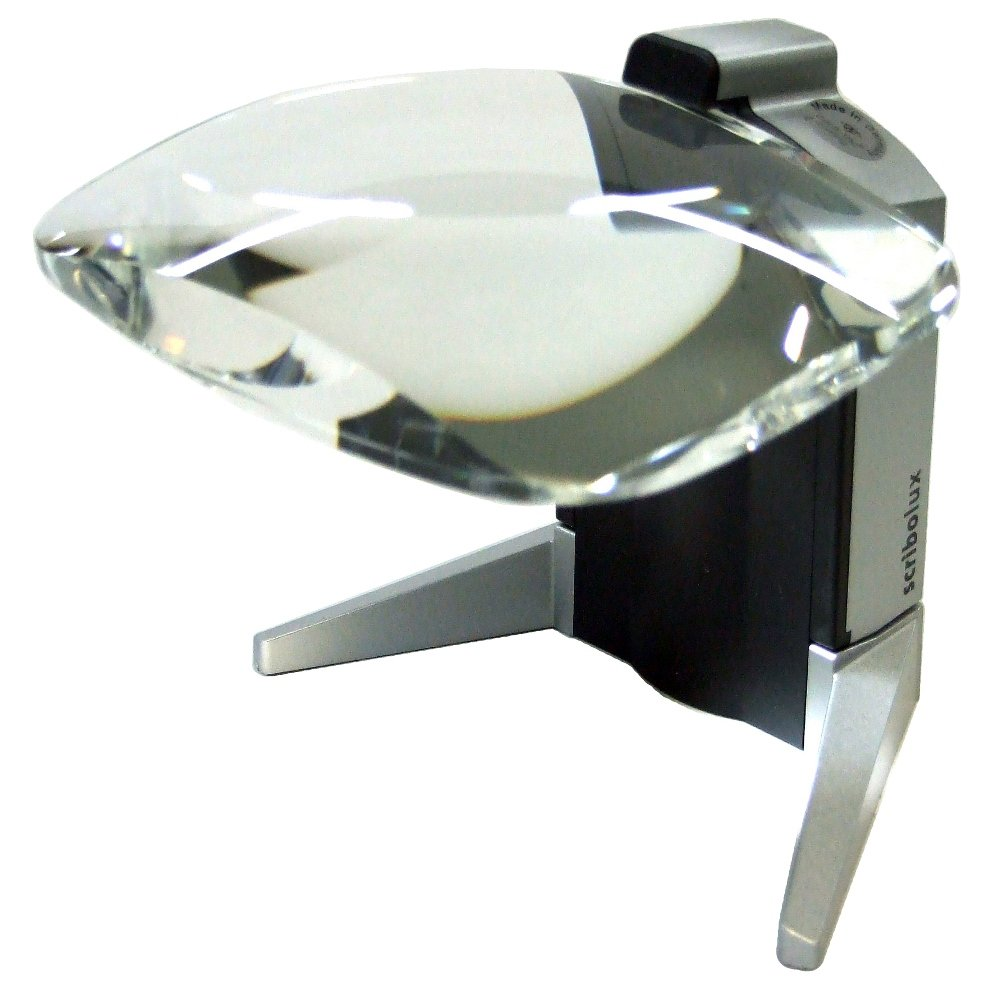 Eschenbach No. 156511 Scribolux LED Stand Magnifier, 2.8x - 7D - Dim. 100x75 mm