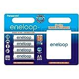 Panasonic eneloop BK-3MCCEC4BE Nickel Metal Hydride AA Batteries, Classic AA 4-Pack with Box