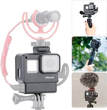 ULANZI V2 - Funda Multifuncional para micrófono con Soporte para Zapata de frío, luz LED de vídeo,