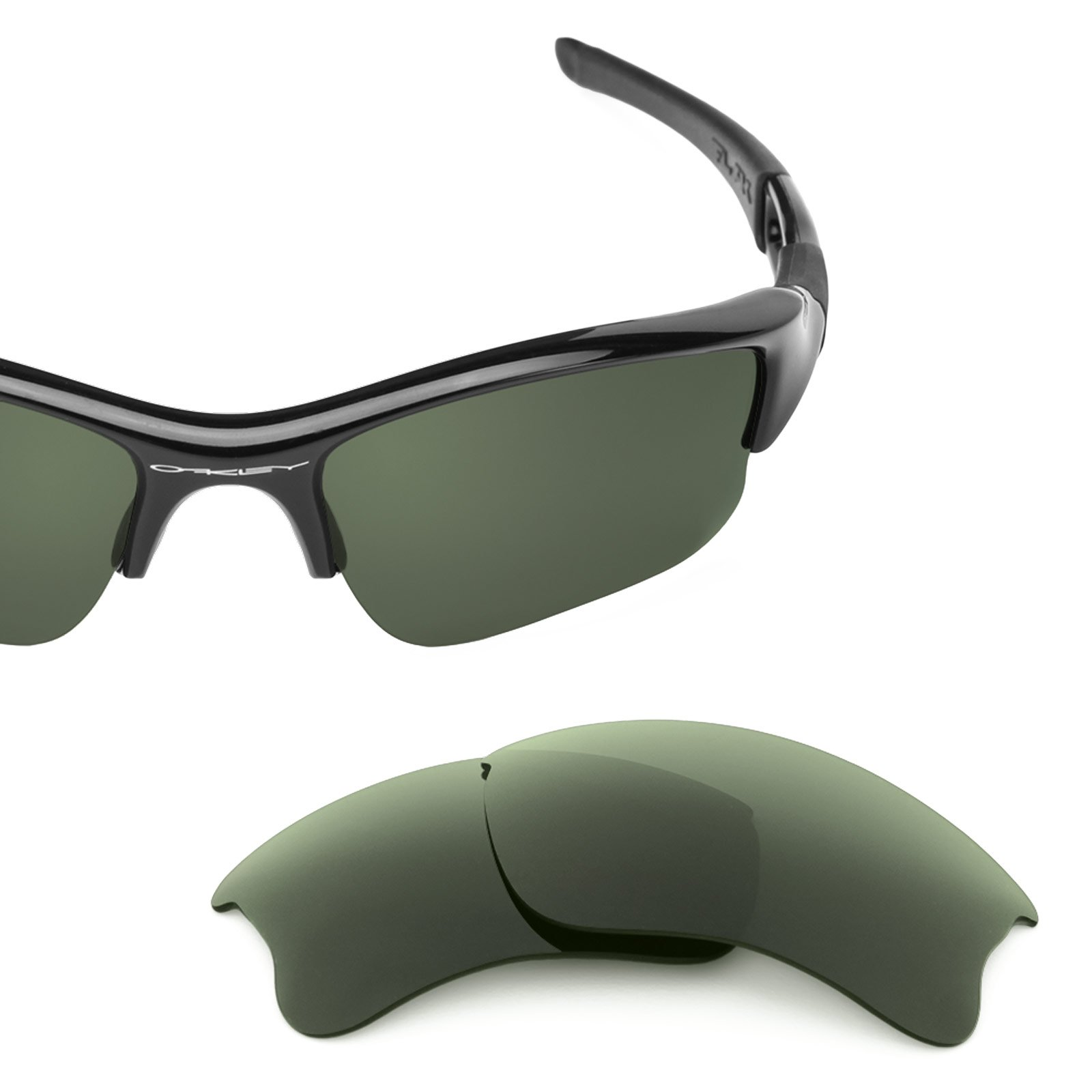 Revant Polarized Replacement Lenses for Oakley Flak Jacket XLJ Grey Green by Revant