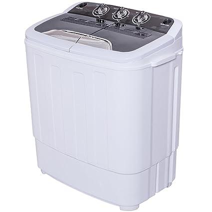 Good Giantex Portable Compact 13 Lbs Mini Twin Tub Washing Machine Washer Spin  Dryer (Blacku0026White)