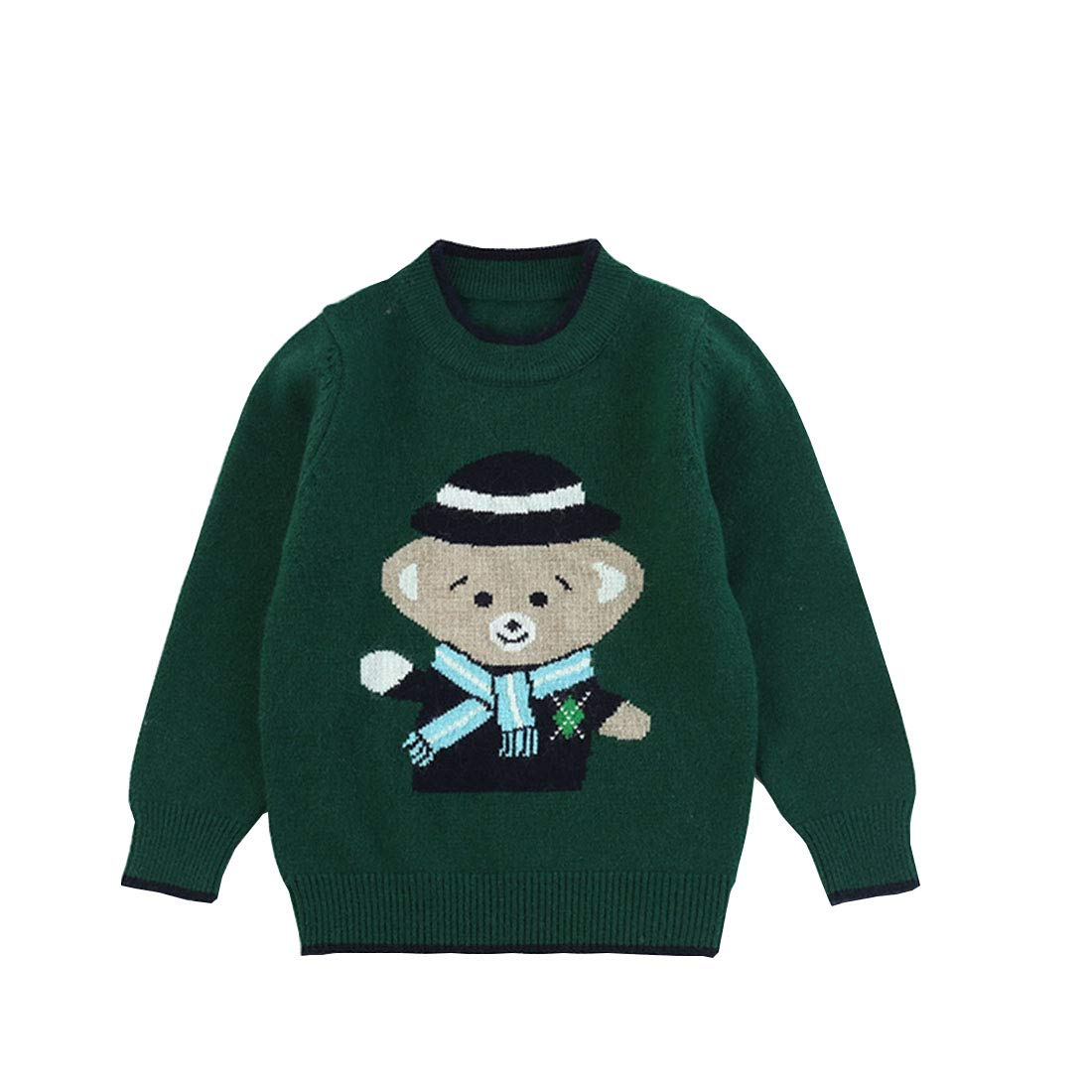 Euno Cartoon boy Bear Sweater