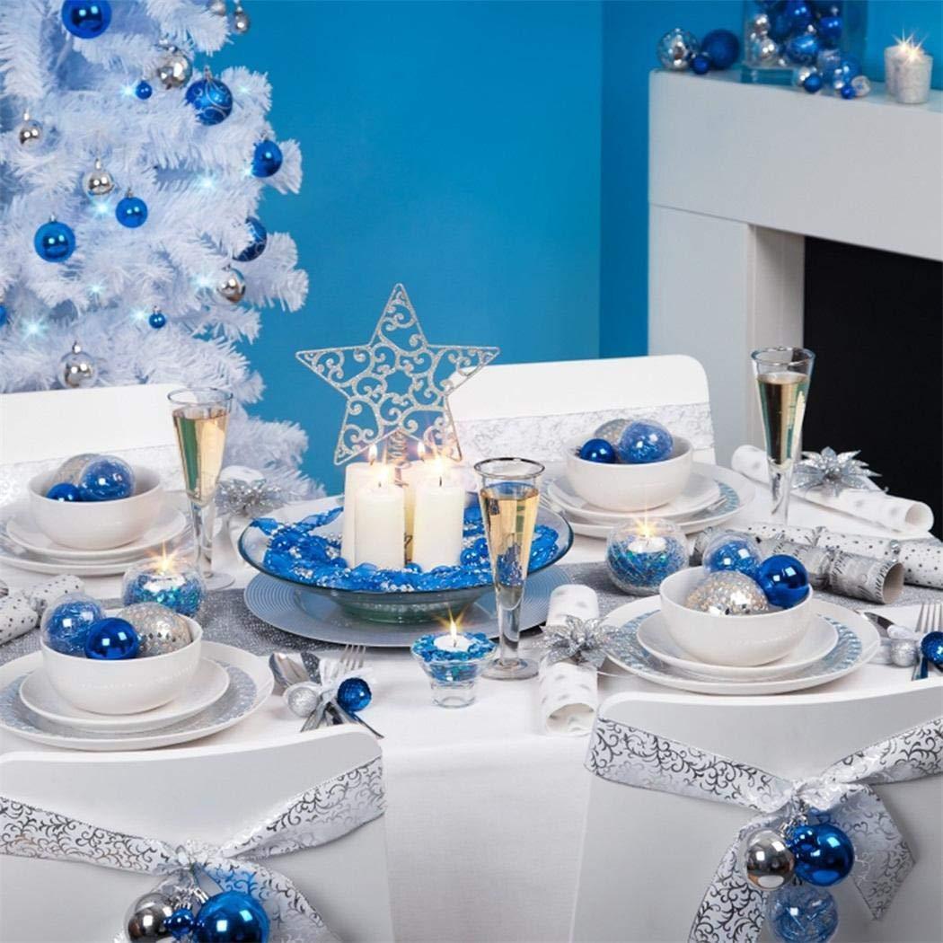 minlop 24pcs Christmas Balls 3cm Xmas Tree Balls Bauble Door Wall Hanging Ornaments Decorations Tree Decorative Balls Holiday Wedding Party Supply Home Festival Decors