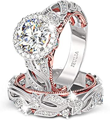 Red CZ Ring Womens silver ring Silver and Gold ring Unique silver ring handmade