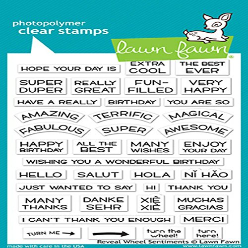 Lawn Fawn Clear Stamps 4''X6'' - LF1701 Reveal Wheel Sentiments by Lawn Fawn
