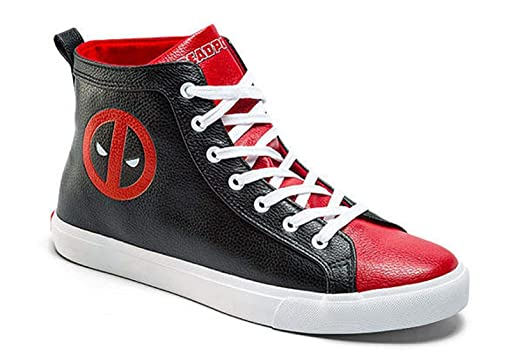 33b5cb5a1ed9 Amazon.com  Marvel Deadpool Mens High Top Shoe Sneakers (Mens