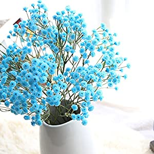 Clearance Sale!DEESEE(TM)Artificial Silk Fake Flowers Baby's Breath Floral Wedding Bouquet Party Decors 95
