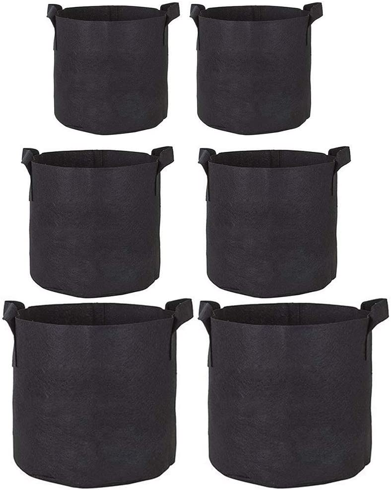 Yebobo 6Pc Cubo de Siembra de 3 Galones Bolsa de Siembra Bolsa de Pl/ántulas No Tejidas Transpirable Hermosa Bolsa de Siembra Cubo de Siembra