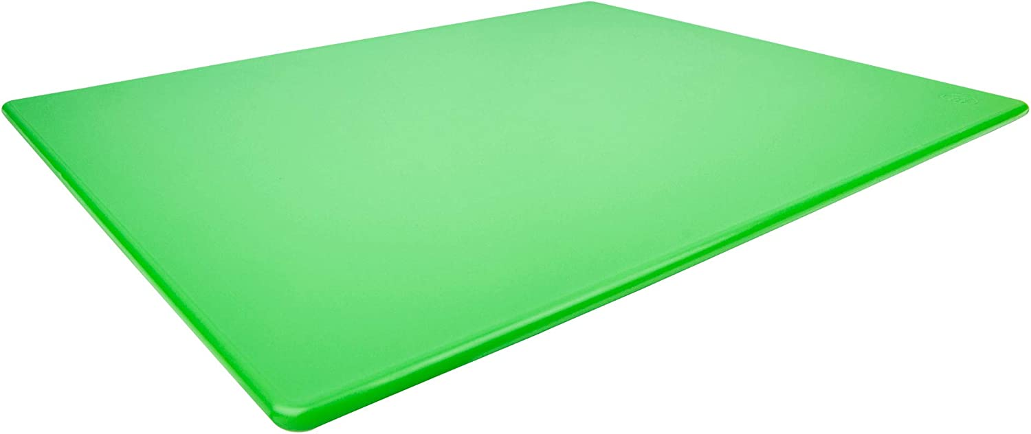 Commercial Green Plastic Cutting Board NSF, Extra Large, 24 x 18 x 0.5 Inch - BPA Free