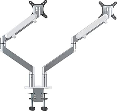 Dual Monitor Desk Mount Stand Full Motion Articulating Gas Spring Arm//17.6 lbs