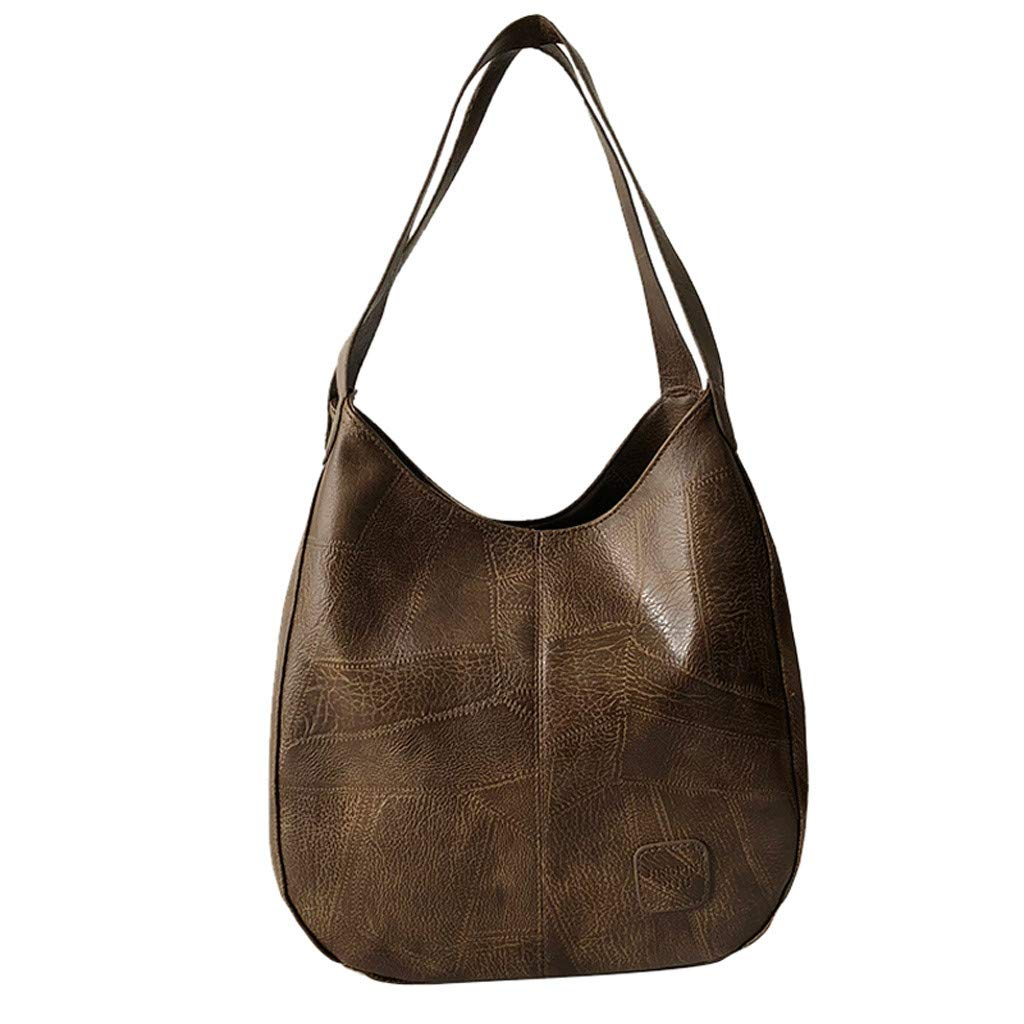 Womens Soft Leather Tote Shoulder Bag Big Capacity Handbag Vintage Laptop Bag Girls Purse School Bag