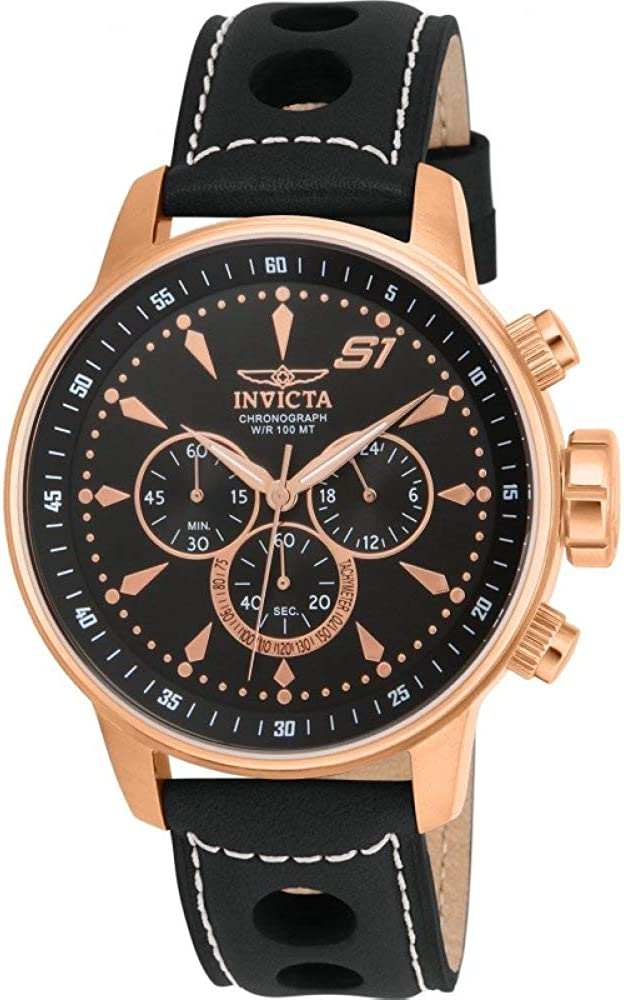 Invicta Men s 16013 S1 Rally Analog Display Japanese Quartz Black Watch