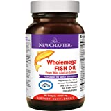 New Chapter Wholemega Fish Oil Supplement - Wild Alaskan Salmon Oil with Omega-3 + Astaxanthin + Sustainably Caught…