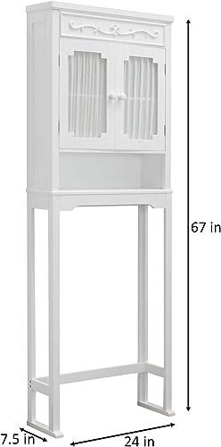 Elegant Home Fashions Lisbon Bathroom Cabinet, White