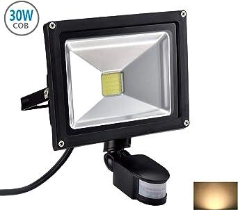 30W Foco con Sensor Movimiento Proyector LED Exterior Iluminación ...