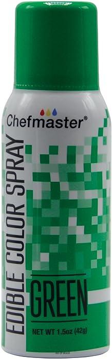 Chefmaster Green Edible Spray Paint 1.5 Ounces
