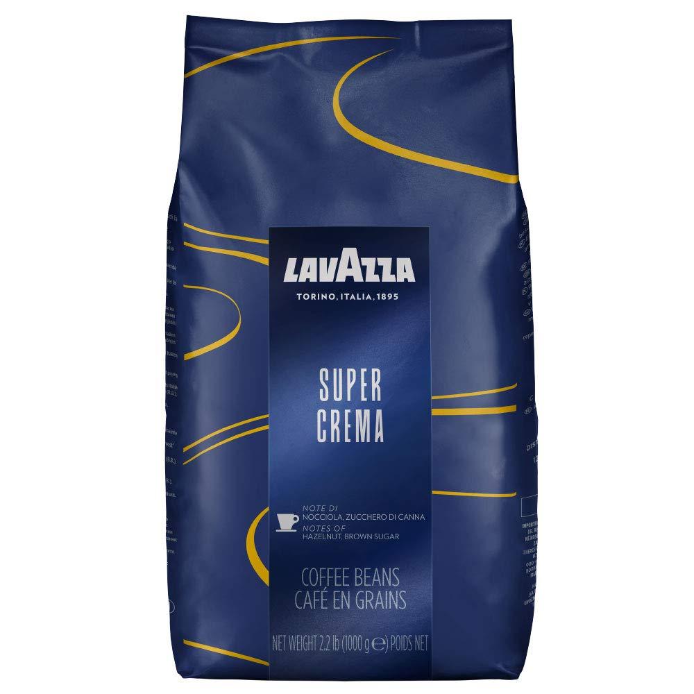 Lavazza Super Crema Coffee Beans 1kg x 6 + 50 Lotus Biscuits