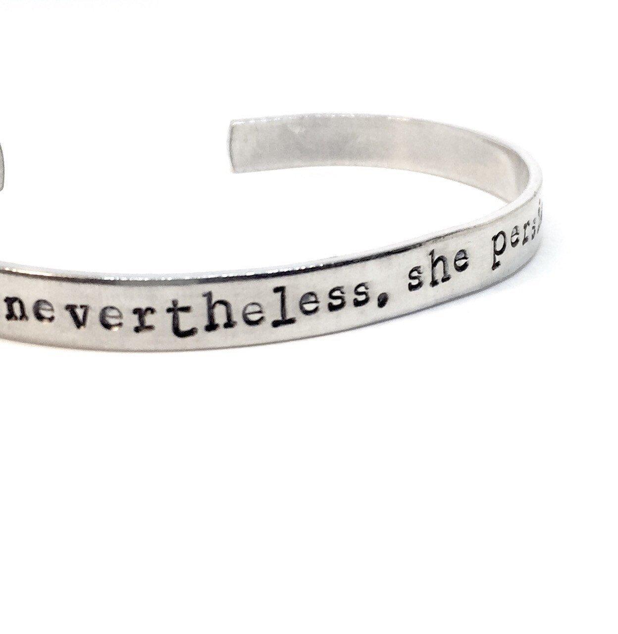 Feminist Feminism Resistance Resist Nevertheless She Persisted Bracelet