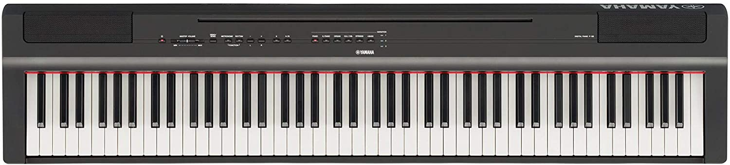 Amazon.com: Yamaha P-125 Digital Piano - Black Bundle with Yamaha L-125 Stand, Furniture Bench, Deluxe Sustain Pedal, Instructional Book, Online Lessons, ...