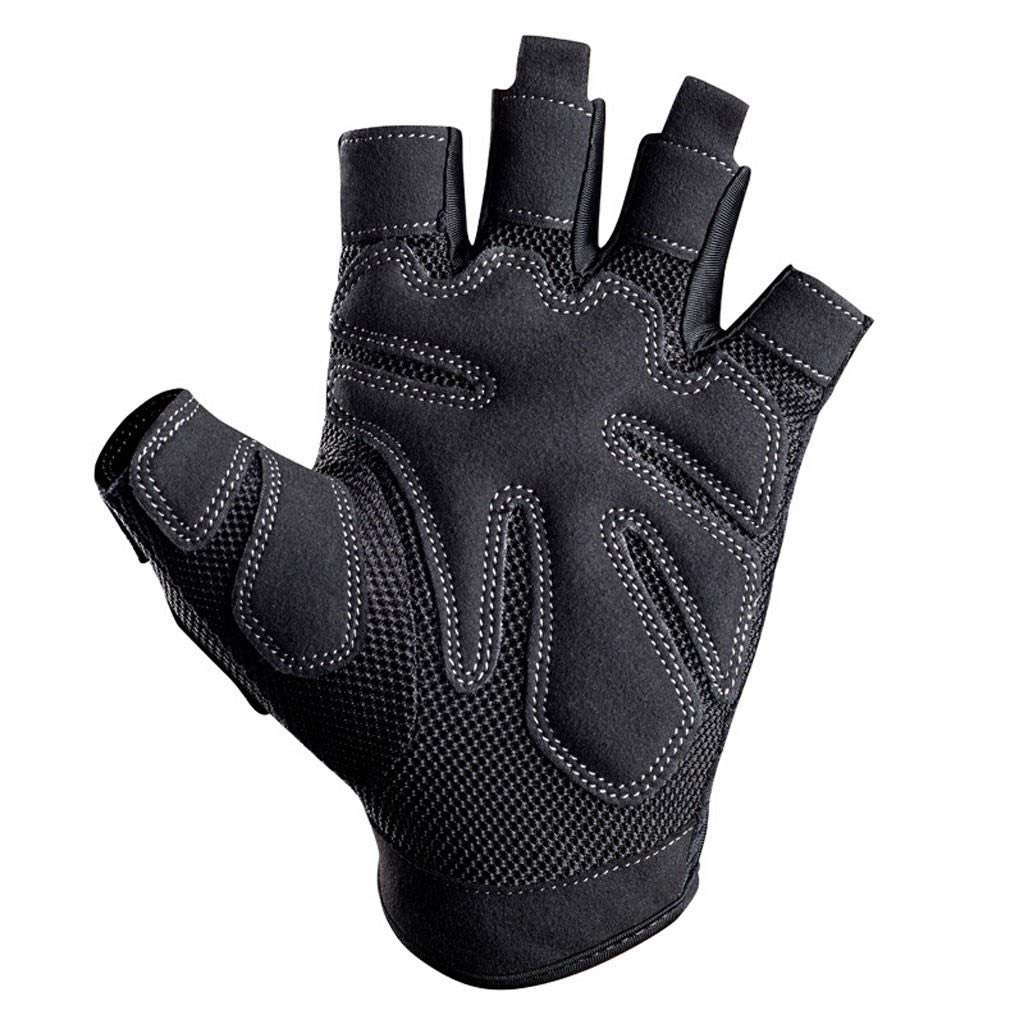 CML Home Fitness Sports Gloves Fitness Dance Training Sports Protective Gear Men and Women Half Finger Gloves Black (Pair) (Size : M) by CML Home