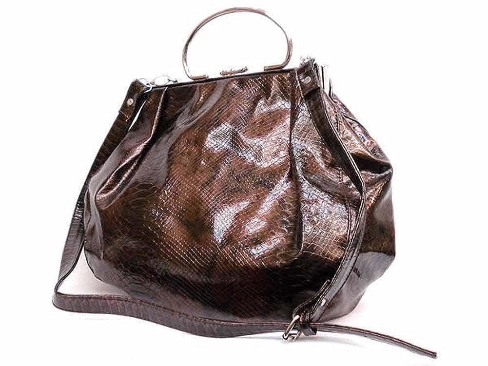 Fashion World Womens Faux Croc Bronze Tote