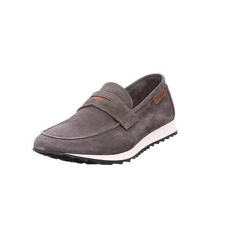 CafeNoir - Cafe Noir Pantofola IN Velour - QE641ASFALTO - Color: Blanco-Negro - Size: 44.0: Amazon.es: Zapatos y complementos