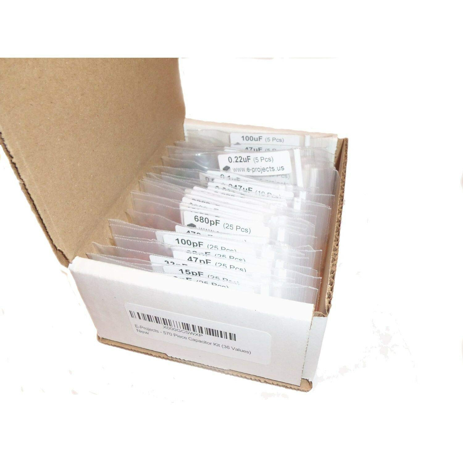 36 Values E-Projects 570 Piece Capacitor Kit