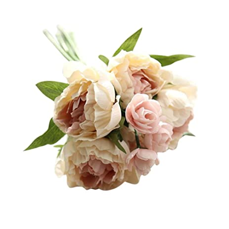 Artificial FlowersUMFun Fake Flowers Lotus Bouquet Floral Wedding Party Home Decor