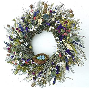 Robins Paradise Wreath With Nest Dried Spring Wreath 65