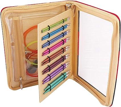 intercambiables aguja puntas Art coloreada KnitPro Zing Deluxe Set 47404