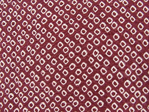 リサイクル 羽織 総絞り 小豆色 正絹 裄63cm 身丈83cm