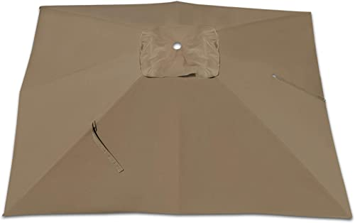 Strong Camel Replacement Canopy 8 Rib Umbrella Cover for 10 x 10 Roma Cantilever Patio Umbrella Coco