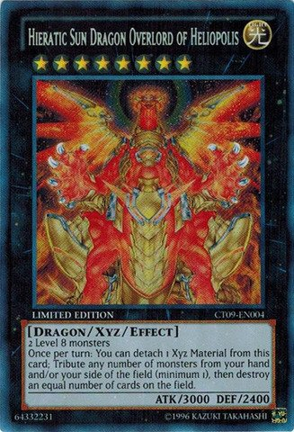 Yu-Gi-Oh!! - Hieratic Sun Dragon Overlord of Heliopolis (CT09-EN004) - 2012 Collectors Tins - Limited Edition - Secret Rare