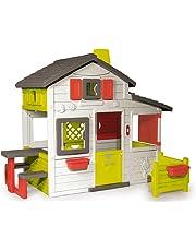 Smoby-310209 Casa Friends Color blanco, verde y gris 149.9 x 84.8 x 39.9 (310209