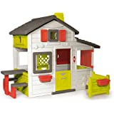 Smoby-310209 Casa Friends, color blanco, verde y gris, 149.9 x 84.8 x 39.9 (310209) , color/modelo surtido