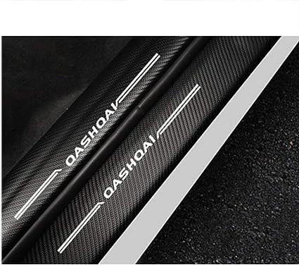 Whhjw 8 Teilige Auto Schwellenstange Carbon Einstiegsleistenschutz Außen Einstiegsleisten Willkommens Pedalaufkleber Zierstreifen Für Nissan Qashqai 2016 2019 Küche Haushalt
